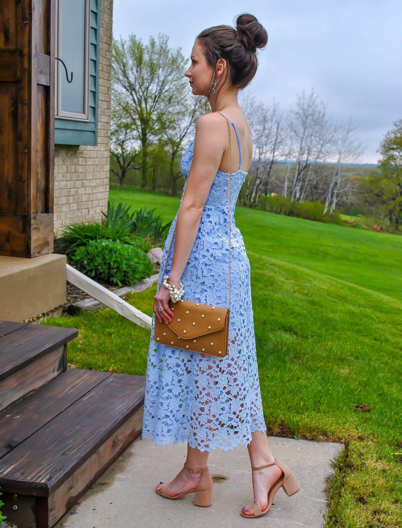 62b0c0718c73 ASTR The Label Lace Midi Dress Petite Review//Wedding Guest Attire Roundup