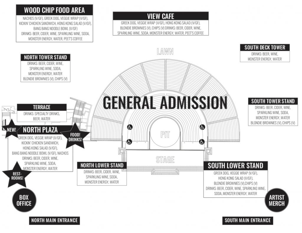 Greek Theater Berkeley Seating Chart In