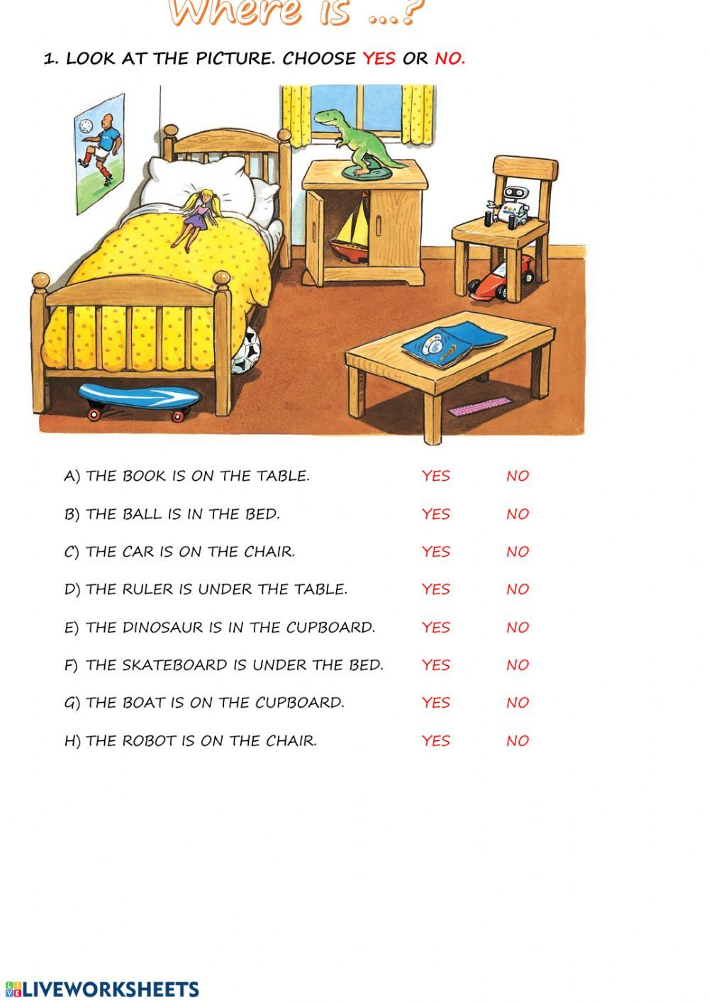 In On Under Prepositions Of Place Worksheet In 2020 Preposition Worksheets Kindergarten Prepositions Preposition Worksheets