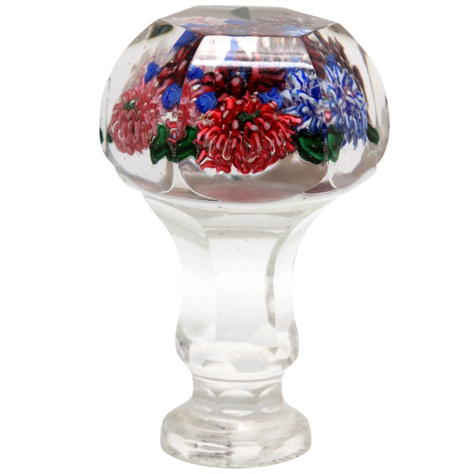 A Rare And Fine Russian Glass Paperweight Seal