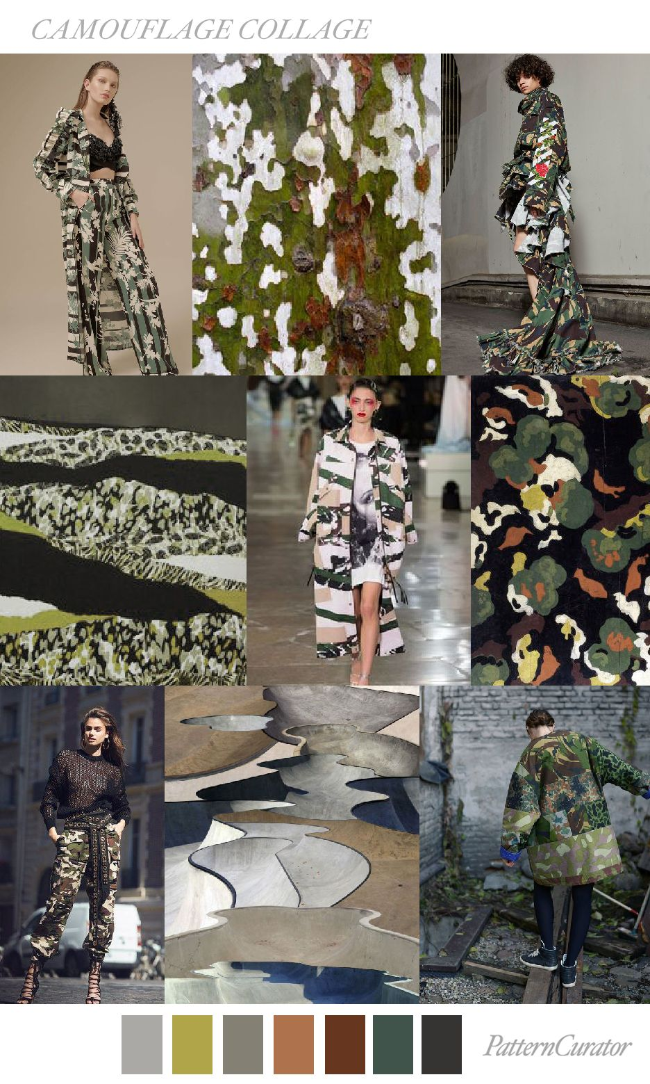 CAMOUFLAGE COLLAGE by PatternCurator | Colors Mode ...