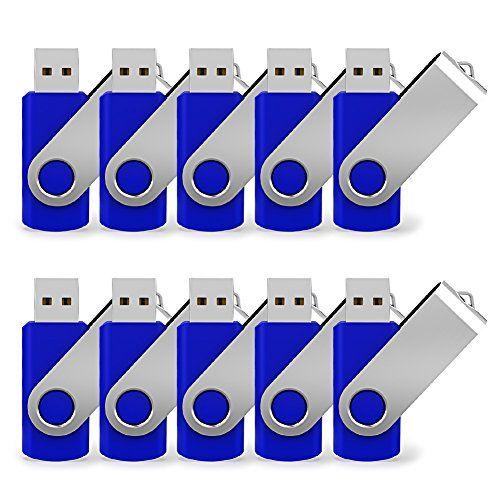 Juanwe 10 Pack 2gb Usb Flash Drive 2 0 Thumb Jump Fold Storage Memory