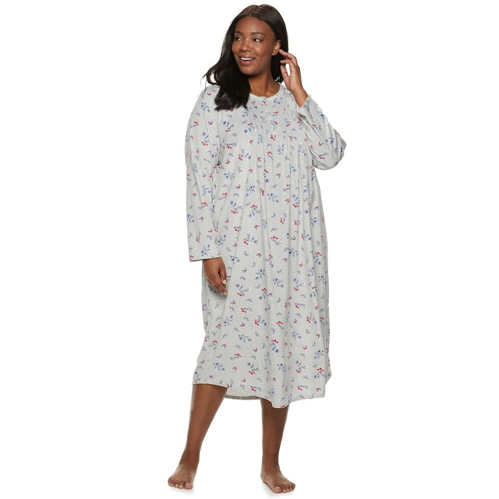 ff5c0027f91 Plus Size Croft   Barrow® Pintuck Velour Nightgown