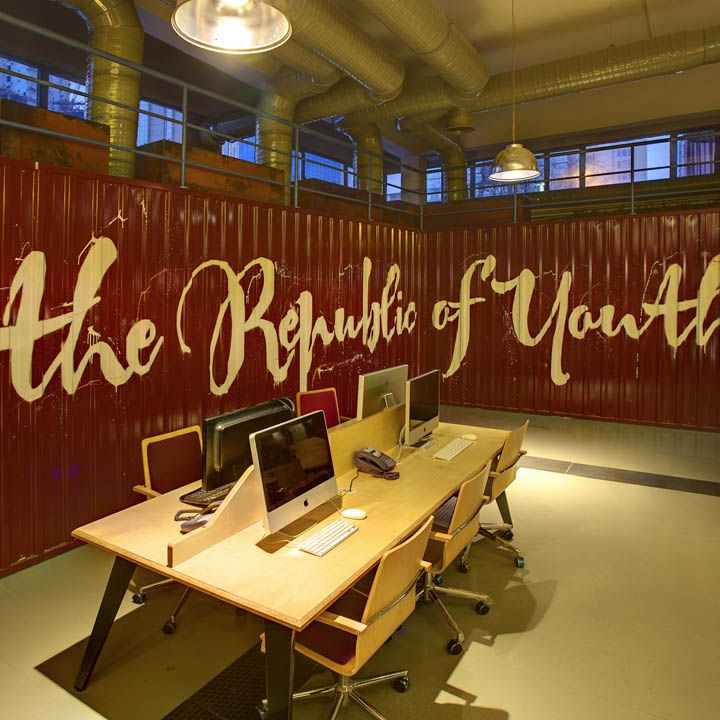 Great idea for  youth room republic office interior in istanbul by kontra also best ideas images on pinterest church rh