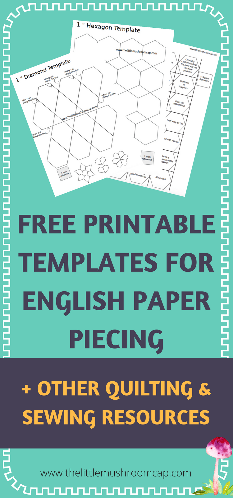 free english paper piecing hexagon templates - easy to use and free english paper piecing template free