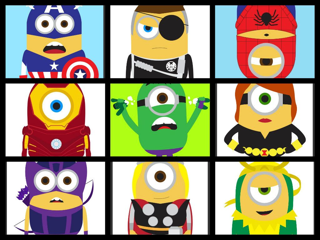 Marvel Minions Despicable Me N Heroes Character