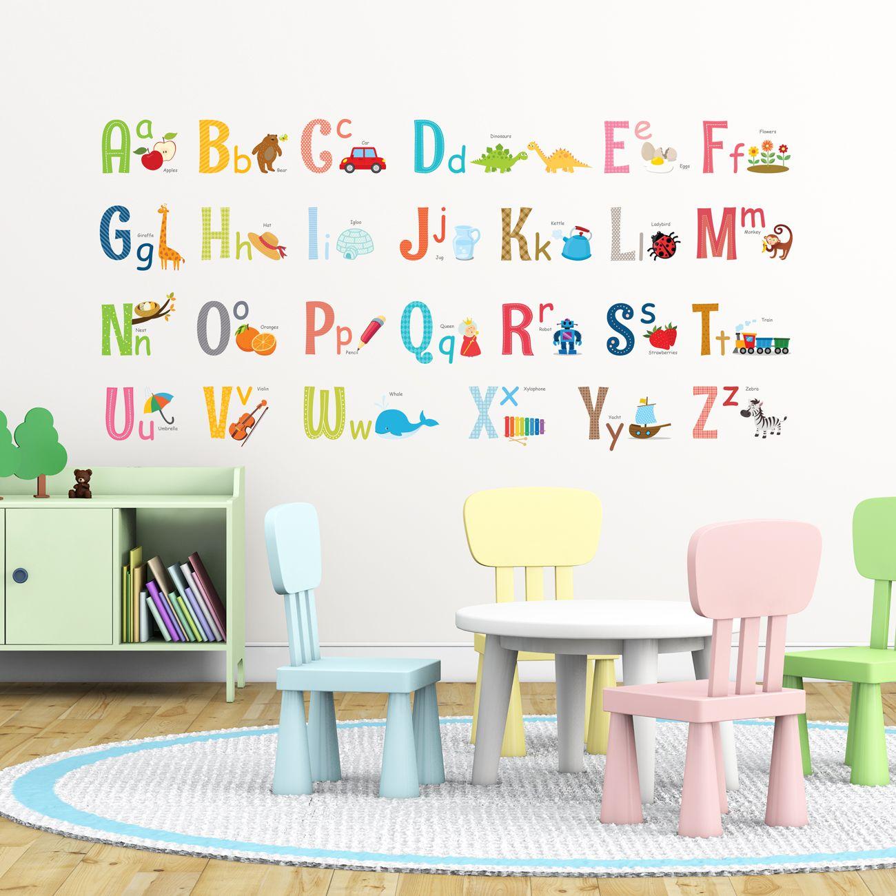 Alphabet Wall Stickers Large Nursery Wall Stickers Kids Wall