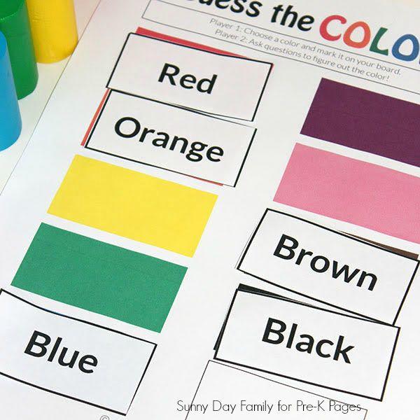 3 Fun Colors Games for Preschoolers | classroom ideas ...