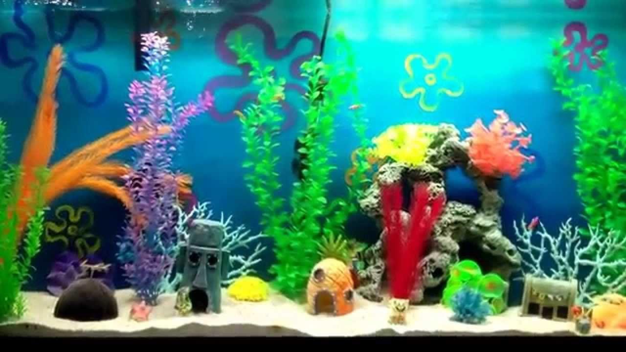 The Best Spongebob Aquarium Spongebob Fish Tank Fish Tank Themes Fish Tank Decorations