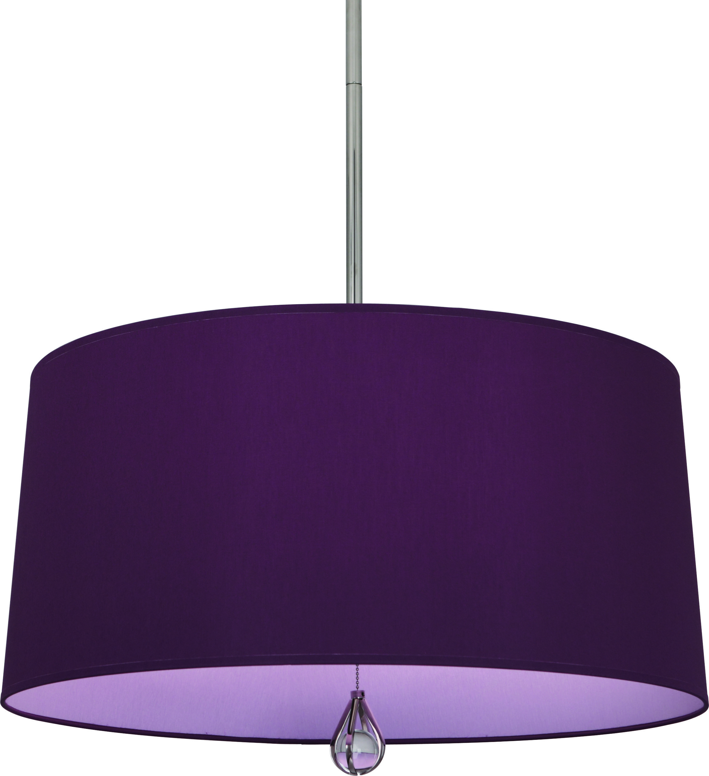 Trend 6 Clean And Contemporary Colored Drum Fixtures By Robert Abbey Hide The Bulb Source In A Polished Nickel Pendant Polished Nickel Robert Abbey Lighting