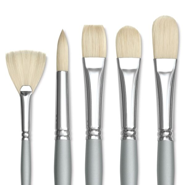 Richeson Bristle Brushes This Special Value Set Is Available Only While Quantities Last Richeson S Assortment Of Five Lo Oil Painting Instructions Brush Art
