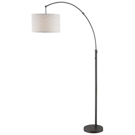 lite source vasanti dark bronze arc floor lamp 240