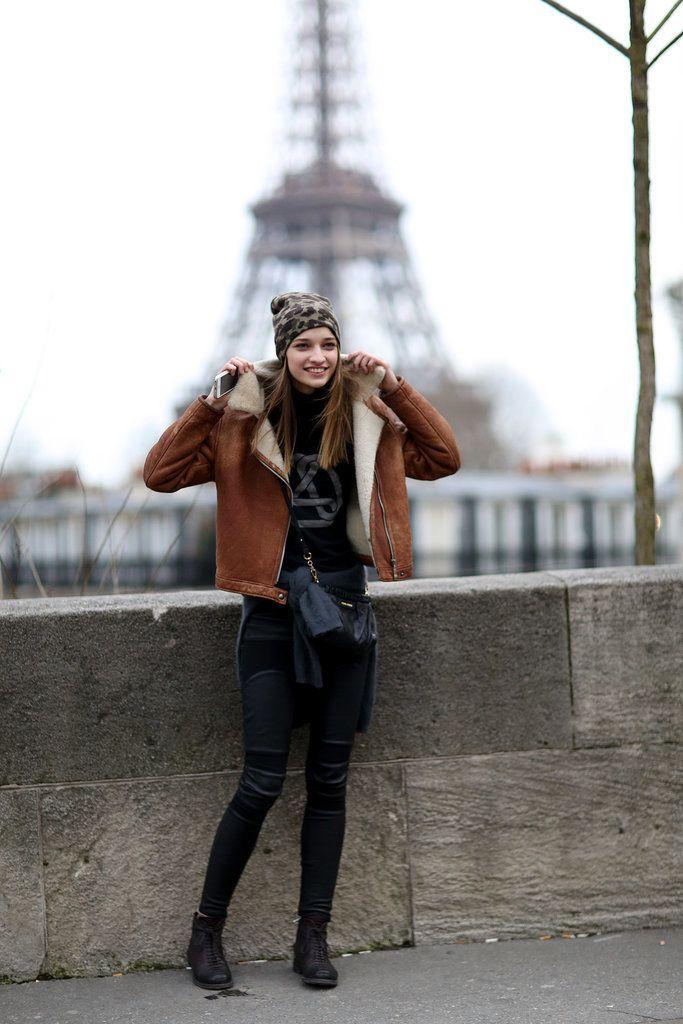 Model Street Style at Paris Fashion Week Fall 2014   POPSUGAR Style & Trends