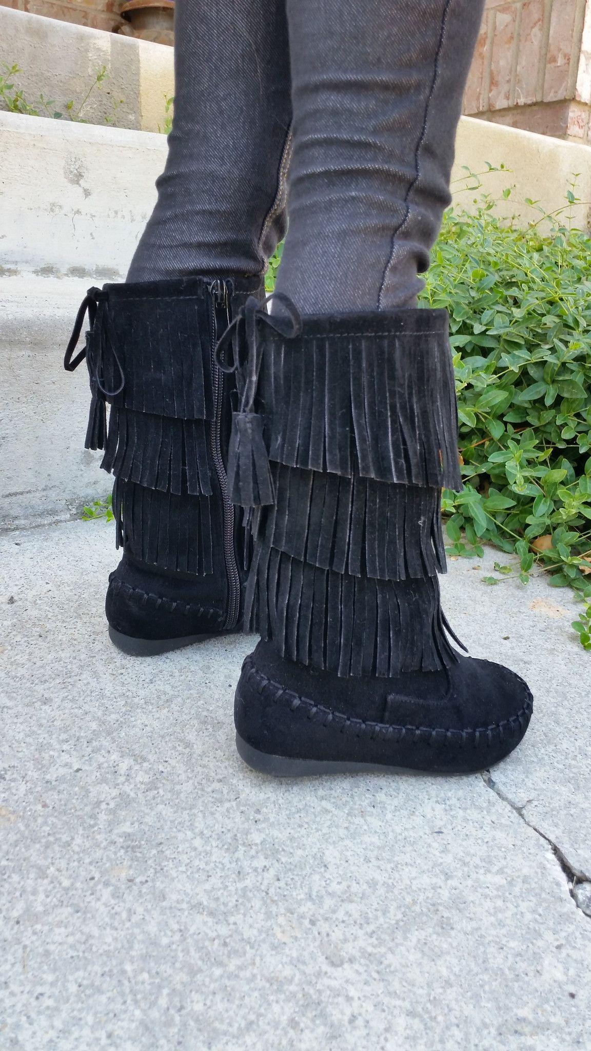 Toddler Fringe Boots
