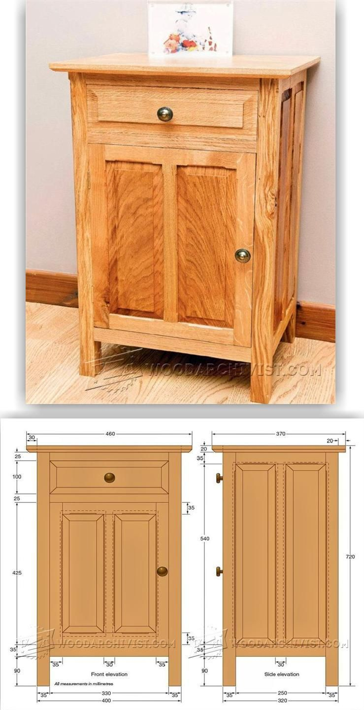 DIY Bedside Cabinet - Furniture Plans and Projects | WoodArchivist ...