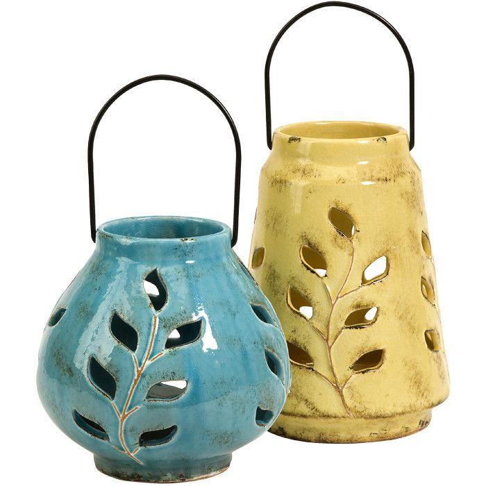 2 Piece Austin Candle Lantern Set