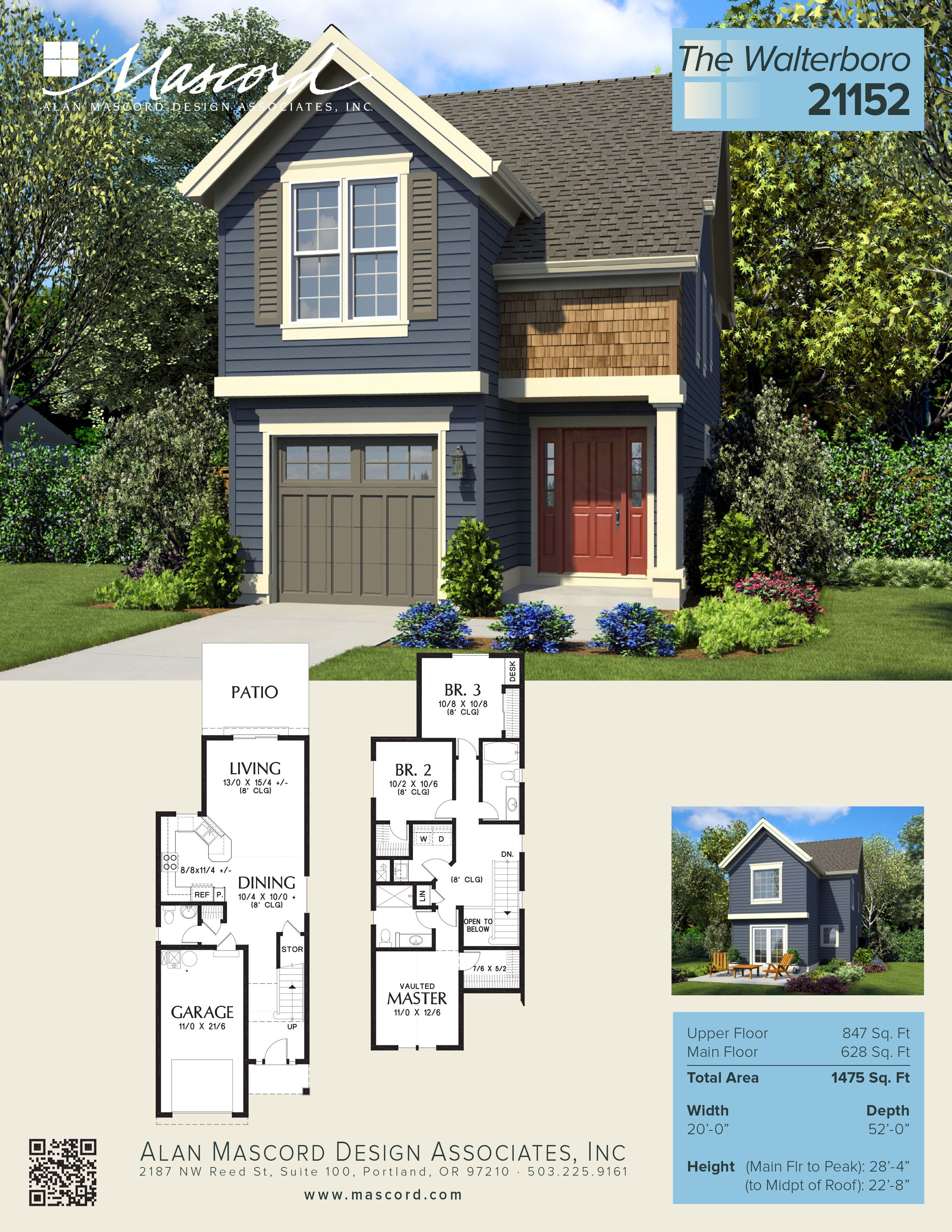 This is  wonderful new narrow home just added to the mascord collection of house plans it   perfect for urban infill or zero lot line situations and also pin by drummond on small affordable rh pinterest