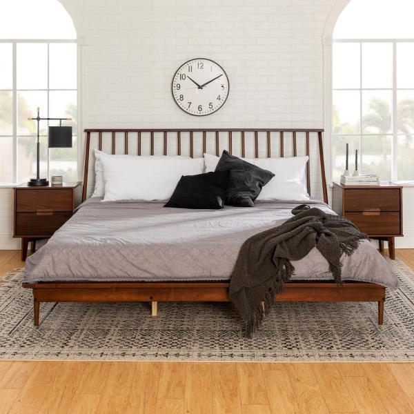 Walker Edison Furniture Company Solid Wood Modern Walnut