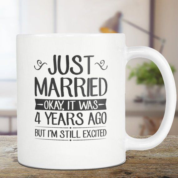 Gift For 4th Wedding Anniversary: All Of Our Mugs Are Custom-designed. We Take Pride In The