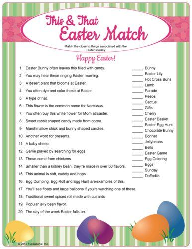 Fun Easter Match Game Easter Games Easter Games For Kids