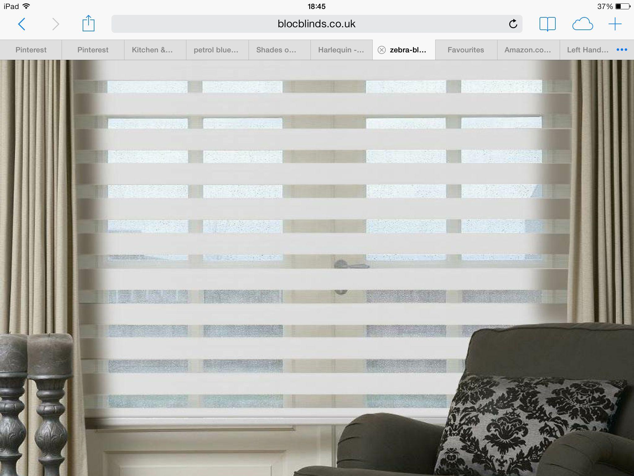 Zebra window coverings  bloc zebra blind  home ideas  pinterest  zebra blinds blinds and