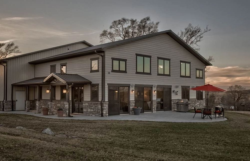 Custom Designed Barndominium With Over Sized Shop Steel Building Homes Barn Style House Metal Building House Plans