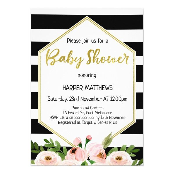 Modern hexagon floral baby shower invitation shower invitations modern hexagon floral baby shower invitation shower invitations summer wedding invitations and summer weddings filmwisefo Choice Image