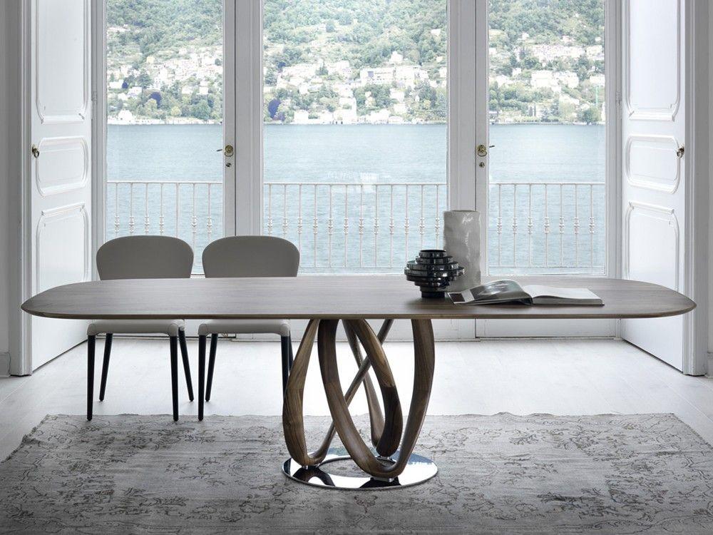 Mobili Porada ~ Porada infinity oval wood dining table by s bigi chaplins