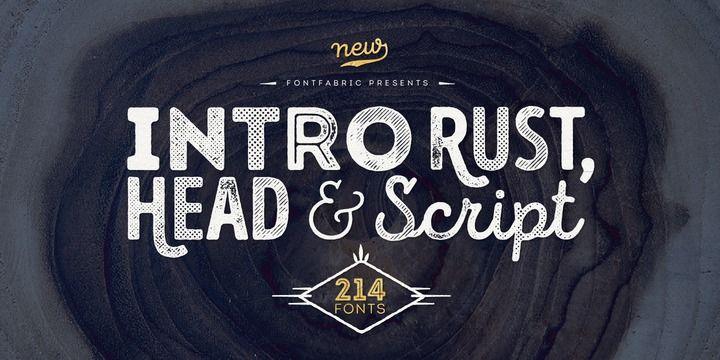 Font dňa – Intro Rust (zľava 90%, rodina 41,90€) - http://detepe.sk/font-dna-intro-rust-zlava-90-rodina-4190e/