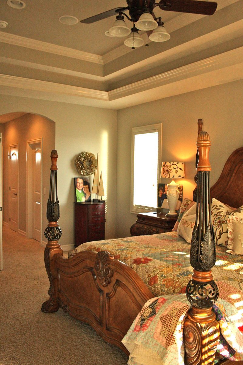 How to trim out a tray ceiling beautiful homes u decor pinterest