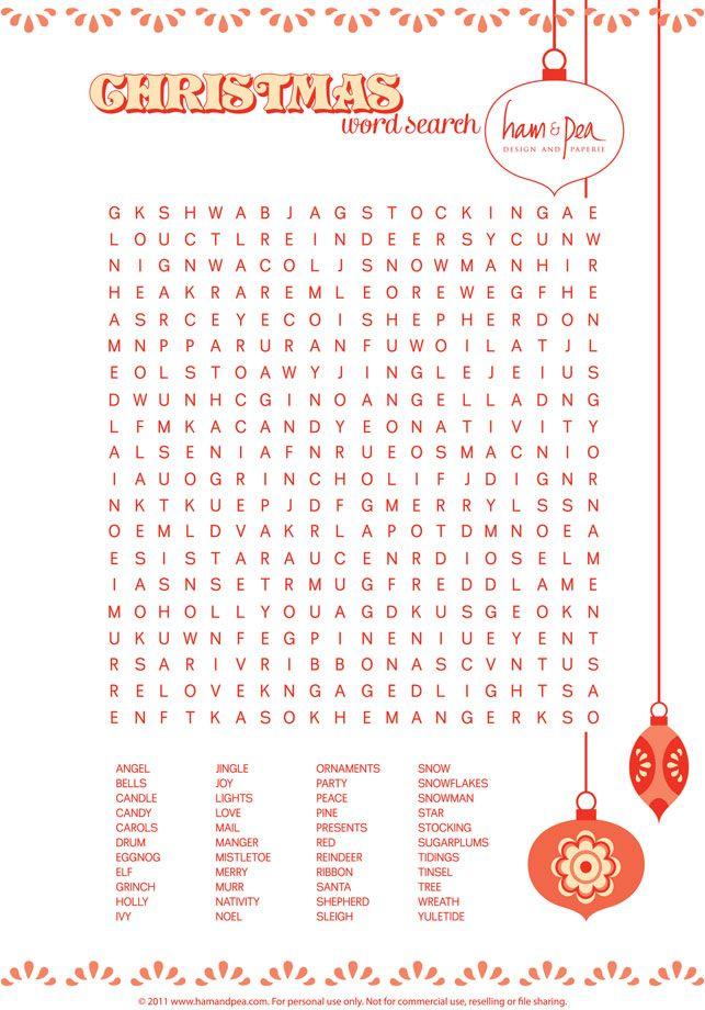 Christmas word search printable Kids holiday party! Pinterest - Kids Christmas List Template