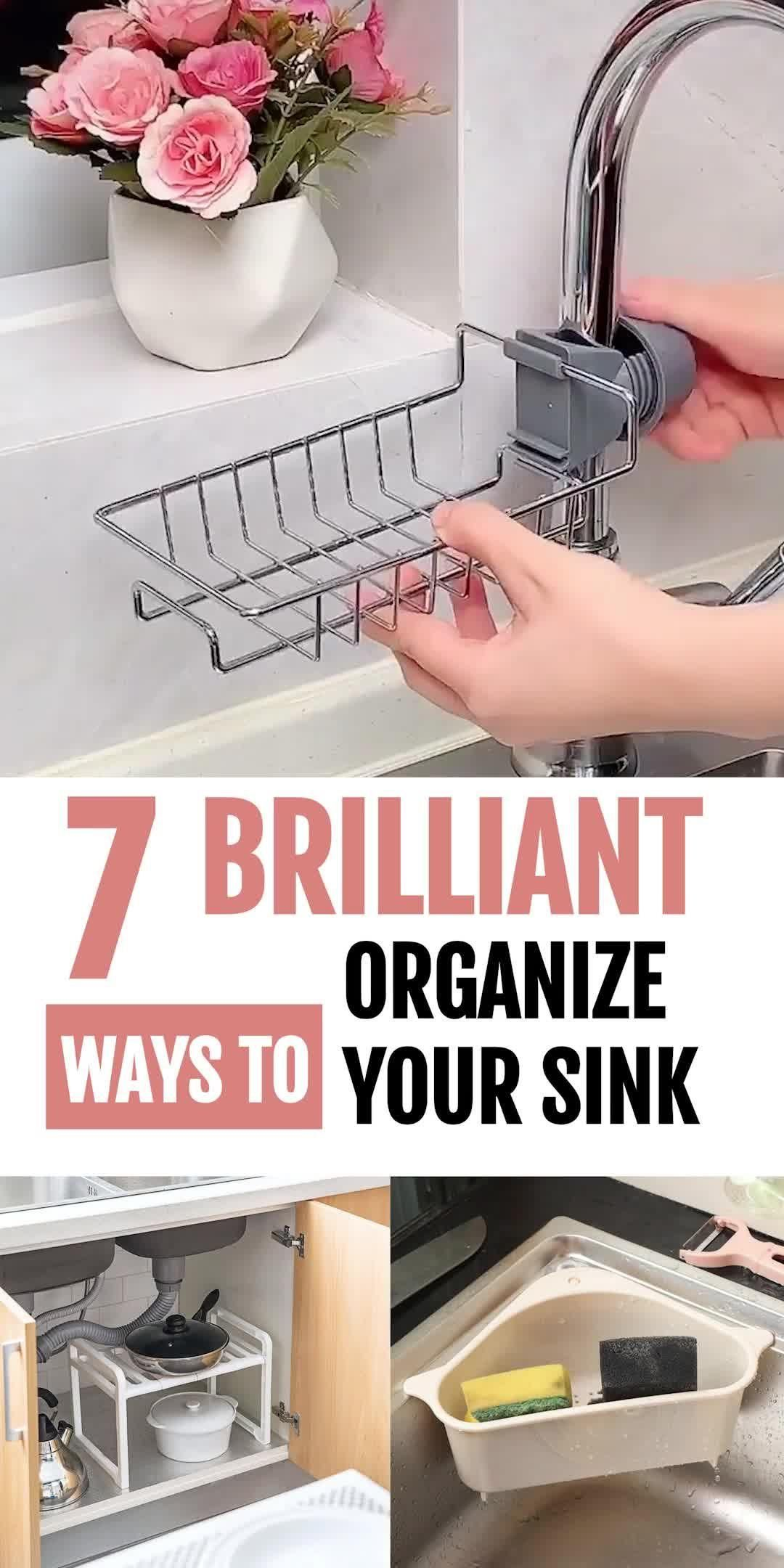 7 Fabulous Kitchen Sink Organizers (2020)