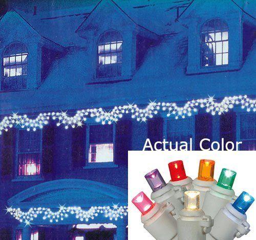 Set of 150 MultiColor LED Wide Angle Swag Christmas