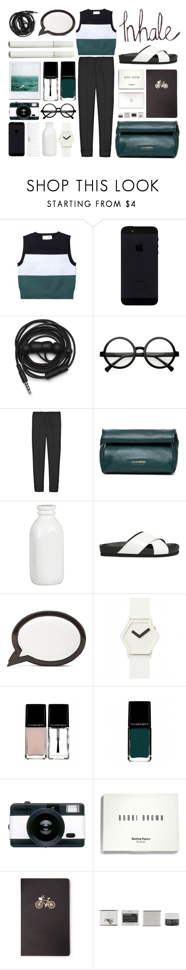 """3PerfectColors."" by mhurtiz ❤ liked on Polyvore featuring A.L.C., Urbanears, Retrò, Miu Miu, Jil Sander, Conair, Crate and Barrel, Steve Madden, Sophia Webster and IDEA International"
