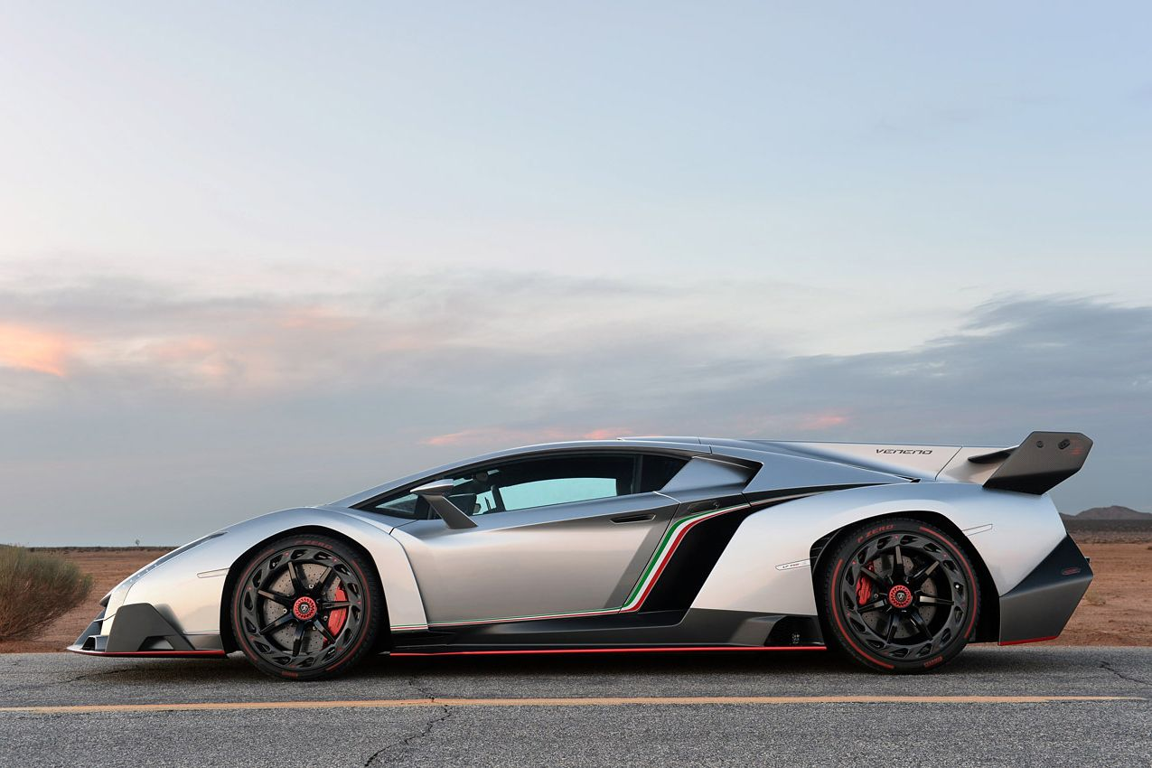 Gray Lamborghini Veneno Hd Wallpaper