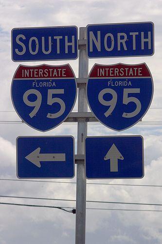 I 95 Go Up Highway Signs Radio Station Traffic