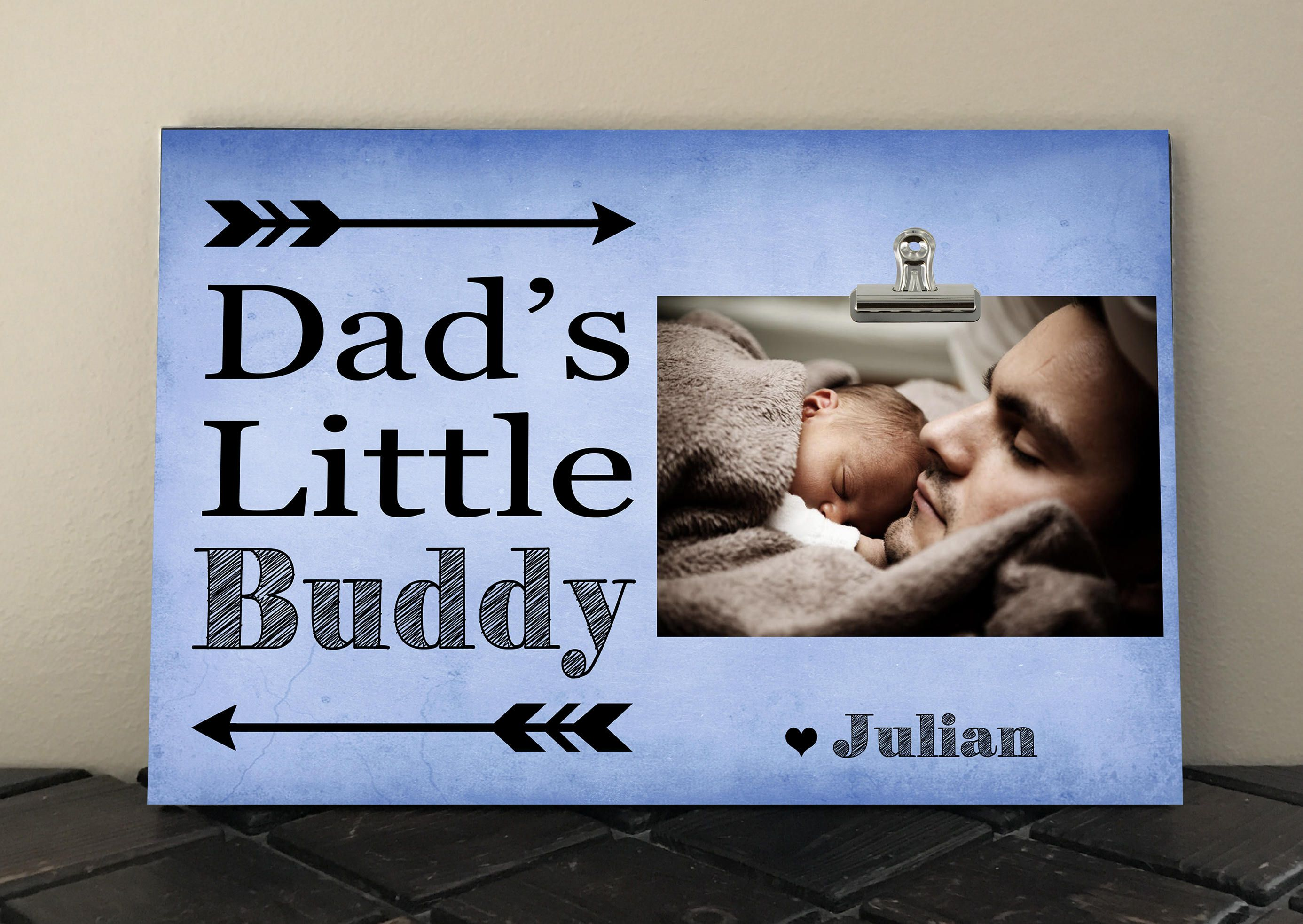 Personalized Free, Fathers Day Gift , Dads Little Buddy, Grandpa,