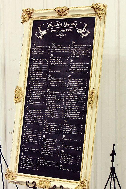 Chalkboard Seating Chart Free printable wedding, Wedding card - free printable seating chart