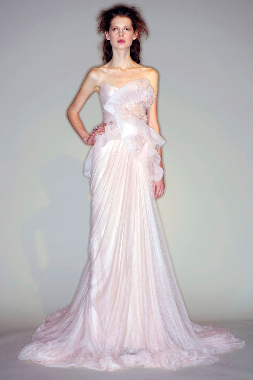 d4274c73ef9 Marchesa Couture Fall/Winter 2010 Dresses To Wear To A Wedding, Pink  Wedding Dresses