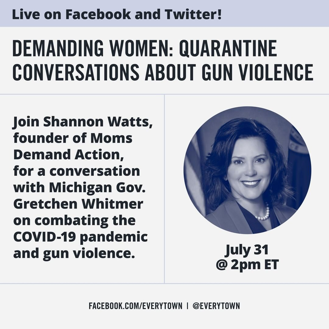 This Friday 7 31 Is The Final Installment Of Our Demandingwomen Series Michigan Governor Gretchen Whitmer Will Join Momsdem In 2020 Michigan Gov Governor Michigan