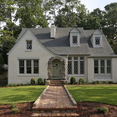 1940s Home Design Ideas Pictures Remodel And Decor Painted Brick House Painted Brick Exteriors House Exterior