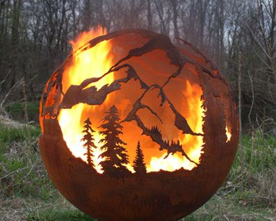 High Mountain Fire Pit Sphere Fire Pit Sphere Fire Pit Gallery