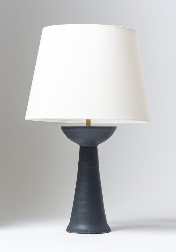 Handmade Ceramic Simple Lamp In Black Simple Lamp Handmade Ceramics Lamp
