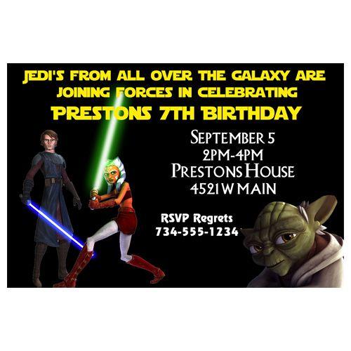 Star Wars Clone Custom Birthday Invitation