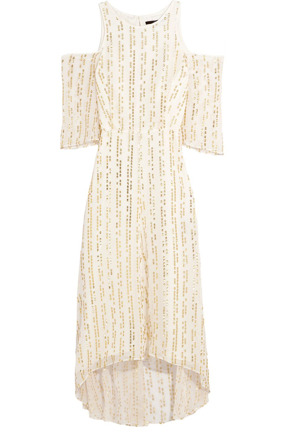 73da1c37f9 TIBI Bella Cutout Metallic Fil Coupé Silk-Blend Maxi Dress. #tibi #cloth # dress