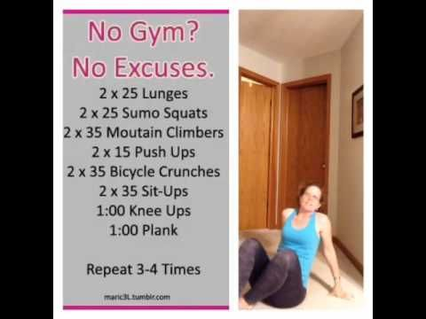 No gym? No excuses!  Here's an easy at home workout and I show you how to do each move.