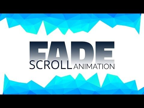 Scroll Activated Fade Animation | HTML CSS jQuery - YouTube