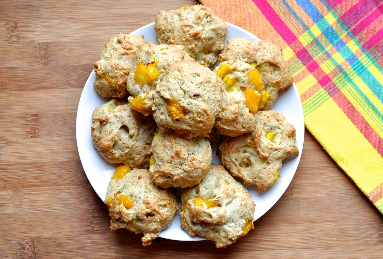 Peach Cobbler Drop Cookies