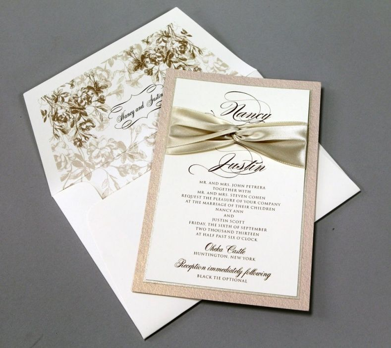 Wedding Invitations With Bows | Wedding Ideas | Pinterest | Unique ...