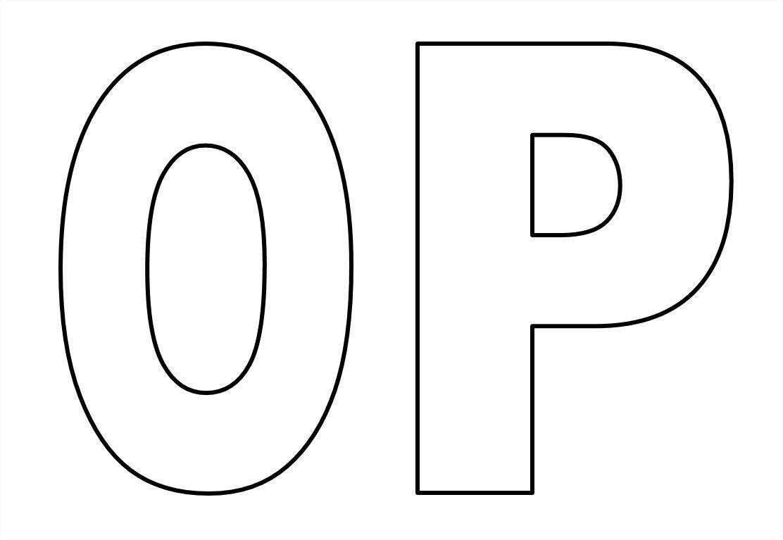 Favoritos Moldes de letras do alfabeto em tamanho grande para imprimir  GL58